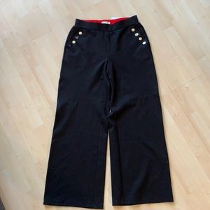 NWT wide leg spanner sailor pant snap pckt detail